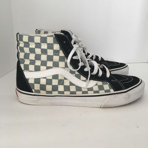 Vans Checkered and Suede Mid Top Sneakers